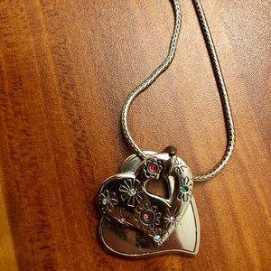 Heart shape necklace & earrings set